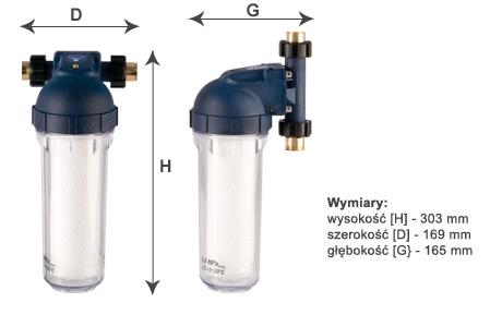 dwa rodzaje montowania plastikowego pojemnika filtrującego